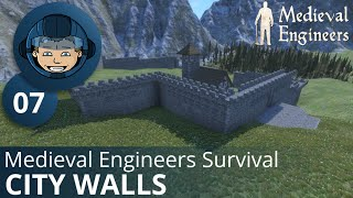 CITY WALLS - Medieval Engineers Survival: Ep. #7 - Gameplay & Walkthrough