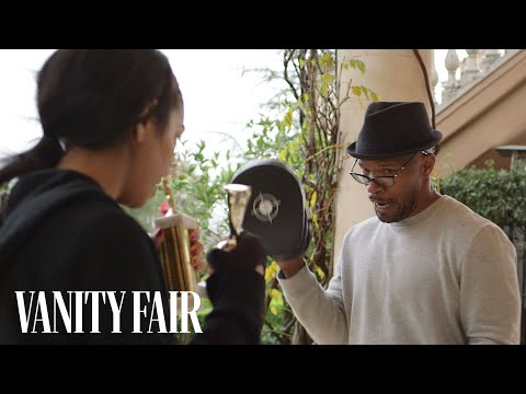 Jamie Foxx Trains His Daughter to be Miss Golden Globe (Creed Tribute)