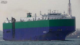 PLATINUM RAY Vehicles carrier 自動車船 RAY SHIPPING 関門海峡 2015-NOV
