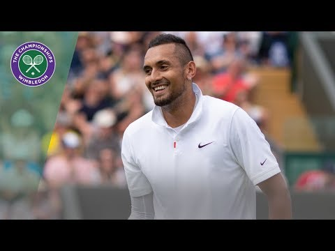 Nick Kyrgios jokes with the crowd about bad serving | Wimbledon 2019
