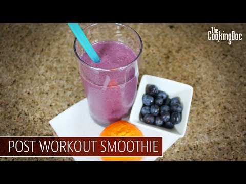 POST WORKOUT SMOOTHIE with HEMP SEEDS   THE COOKING DOC