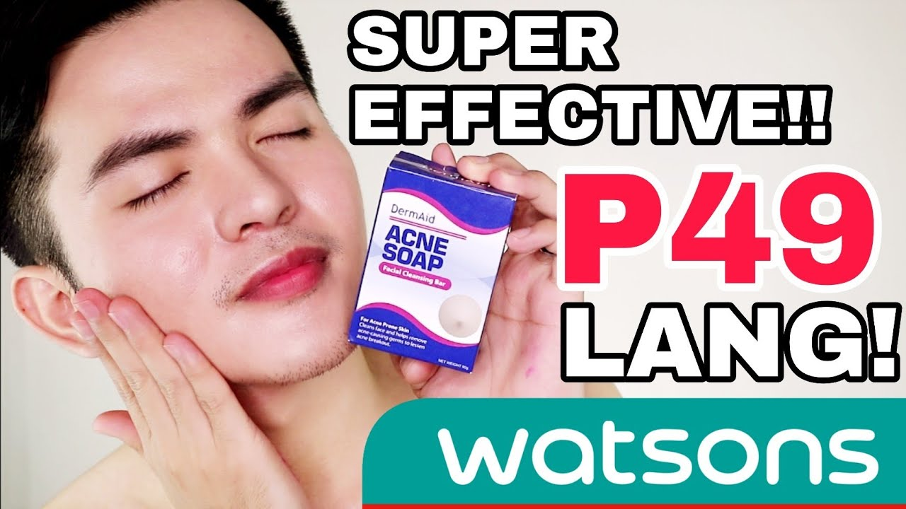 Dermaid Acne Soap Sa Watsons Super Effective For Pimples Youtube