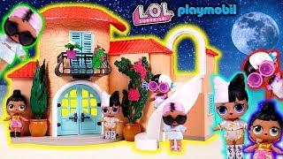 Nowy dom dla laleczek LOL  Bajka po polsku LOL Surprise Playmobil Słoneczna Wakacyjna Willa 9420