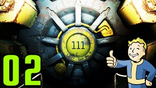 Fallout 4 Walkthrough Gameplay Part 2 - EXITING VAULT 111 (PC)
