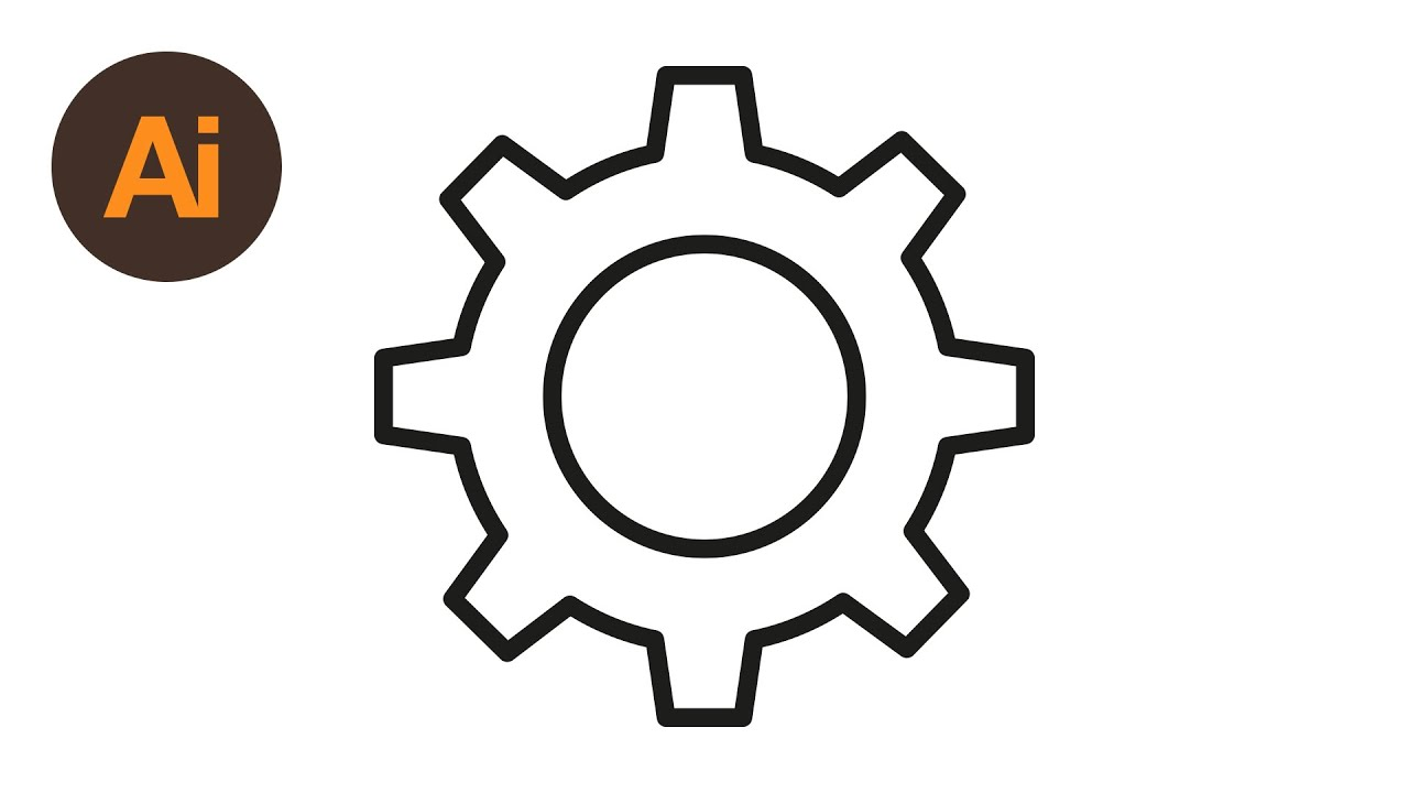 Learn How To Draw a Cog Settings Icon in Adobe Illustrator