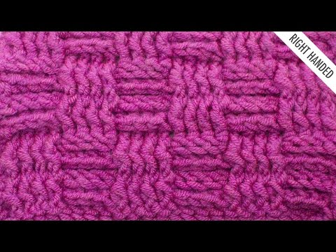 The Basketweave Stitch :: Crochet Stitch #335 :: Right Handed