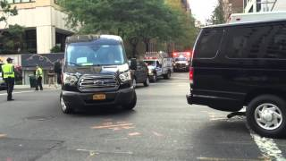 CUBAN PRESIDENT, RAUL CASTRO'S, MOTORCADE HEADING TO THE UNITED NATIONS GENERAL ASSEMBLY MEETINGS.