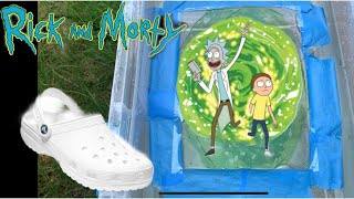 HYDRO DIPPING RICK AND MORTY THEMED CROCS