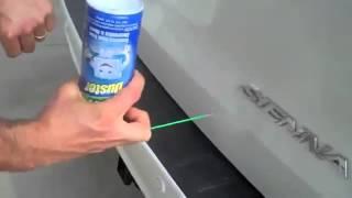 Как убрать мелкую вмятину на авто с помощью фена и освежителя