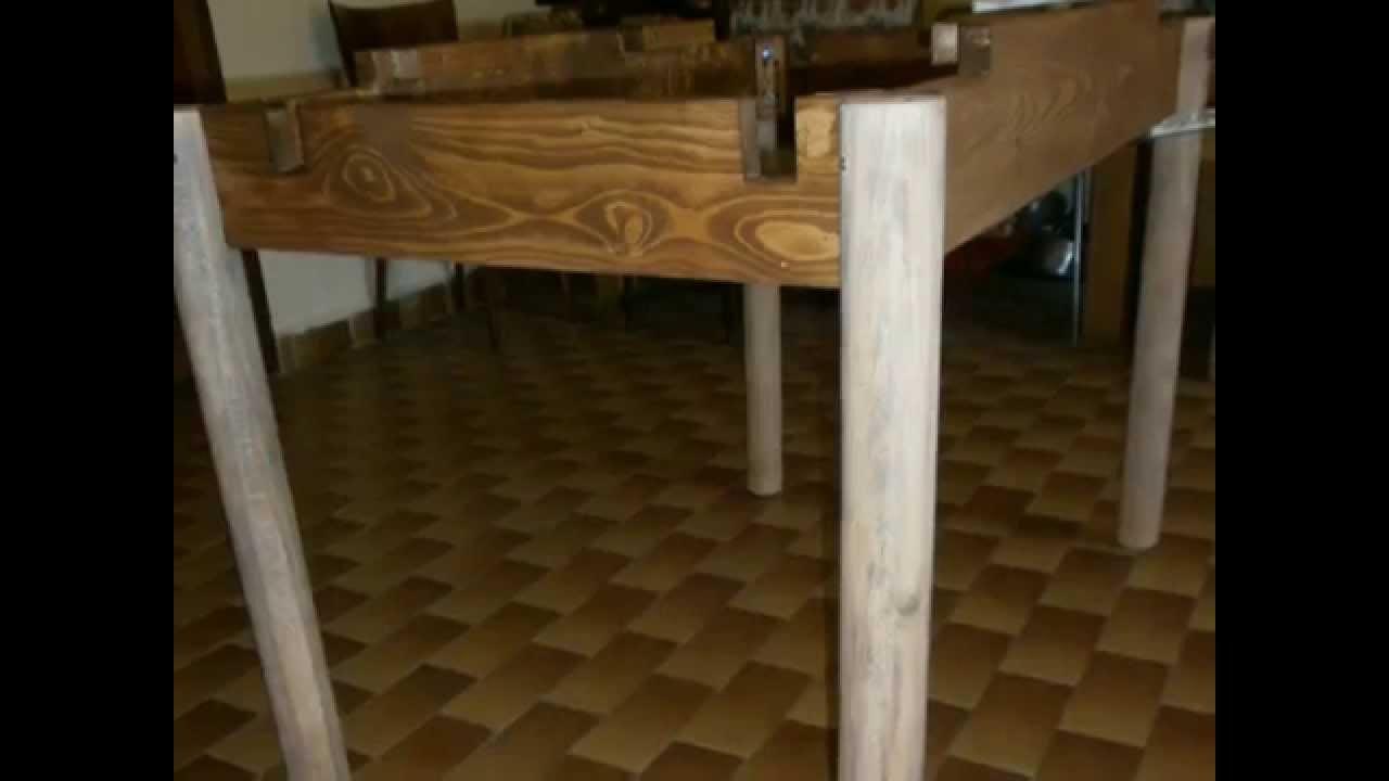 Creare un tavolo allungabile con aste dei bancali di - Costruire un tavolo allungabile ...