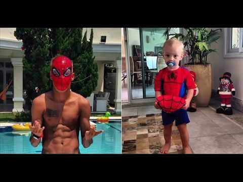 เนย์มาร์กับลูกชายตัวน้อยลูกา