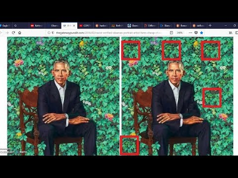 What EVERYONE Missed in the Obama Portrait Mirrored