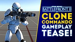 CLONE COMMANDOS REVEALED! GAMEPLAY TEASER! Instant Action, PVE! - Star Wars Battlefront 2 Update