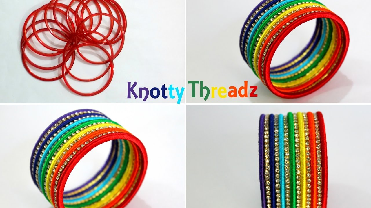 Silk Thread Jewellery | Making Designer Bangles from Old Glass ...