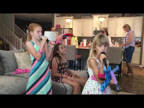 More karaoke at Nats 10th Birthday Party.