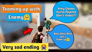 Teaming up with enemy (Indian🇮🇳) but very sad ending 😭 in Pubg mobile | Pubg mobile Hindi thumbnail