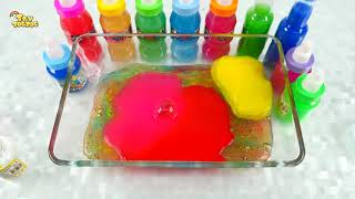 Mixing Random Things into Store Bought Slime # Slime Smoothie # Satisfying Slime Videos #Toy kids ar
