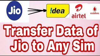 Transfer Data Balance From Jio to Any Other Sim, With Proof ( Message Received )