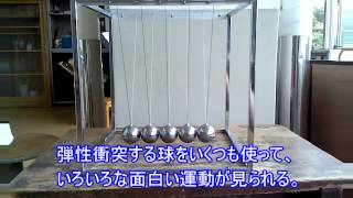 高校物理実験:弾性衝突する5つの球での実験