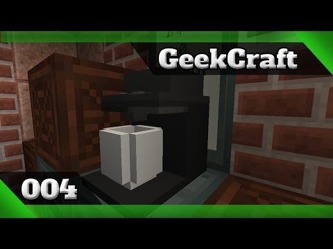 Minecraft 1.10.2 modded GeekCraft Ep04- Cafeteira e Atomic Reconstructor(Actually Addictions)[PT/BR]