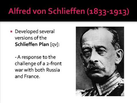 an introduction to the life of general alfred von schlieffen Essay about the schlieffen plan by alfred von schlieffen - germany's the schlieffen plan essays - germany's the schlieffen plan general schlieffen came up.