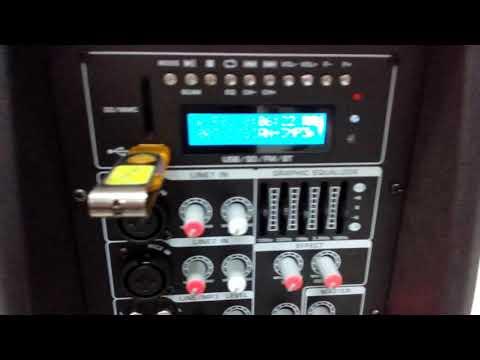 Parlante amplificado Batblack de 1200W