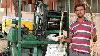 Best Street Food India Sugarcane Juice Making Travel Truck Machine | Wild Food