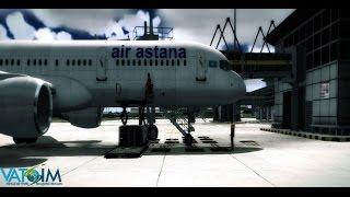 VATSIM |  KZR3101|  Captain Sim 757 | FS2004 | WMKK-UAAA |  Youtube livestream