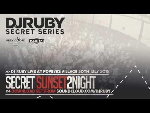 DJ Ruby live at Secret Sunset 2 Night Party, Popeye's Village Malta,  30.07.16