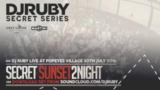 DJ Ruby live at Secret Sunset 2 Night Party, Popeye's Village Malta, 2016 Set - 30.07.16