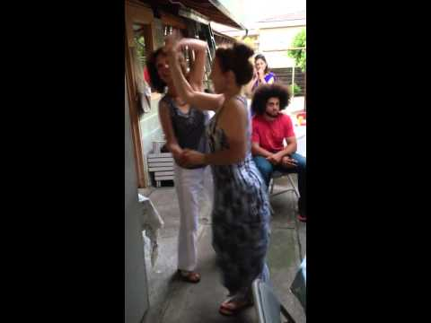 Michelle and Madrina dancing