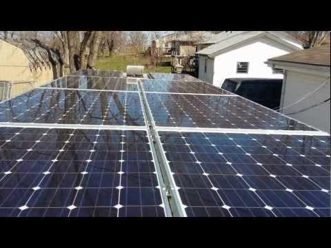Install Harbor Freight Solar Panel 5x8 Enclosed Trailer
