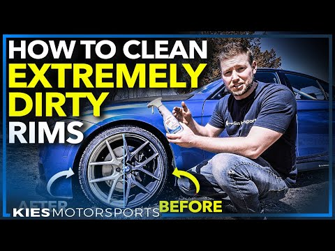 How to Clean EXTREMELY Dirty Rims with BAKED ON Brake Dust (Does Sonax Work?)