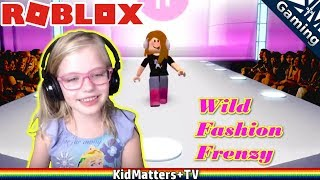 Roblox FASHION FRENZY model, Weird DRESS UP runway show / Roblox Fashion Frenzy [KM+Gaming S02E07]