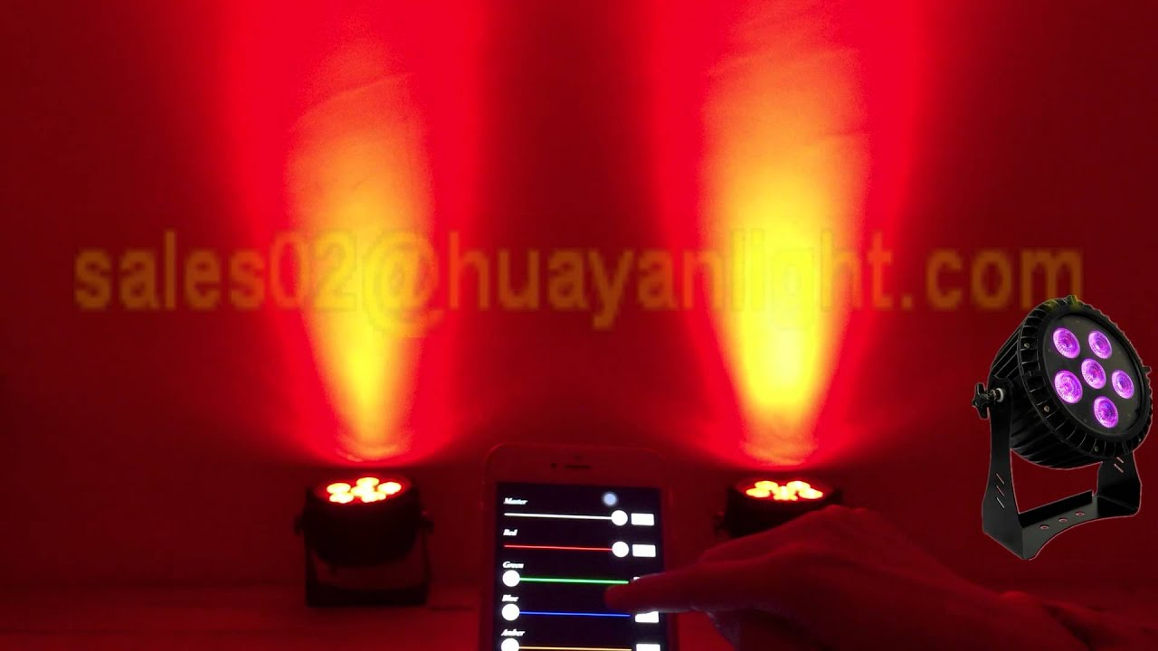 Smart Led Outdoor Par Lights With Wireless Dmx And Battery, Can Control By  Smart Phone App Rgbwauv