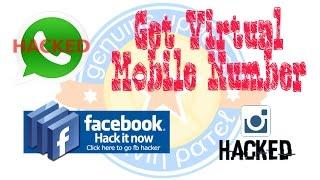 100% whatsapp hack | create Facebook , whatsapp , hike, Instagram without phone number.