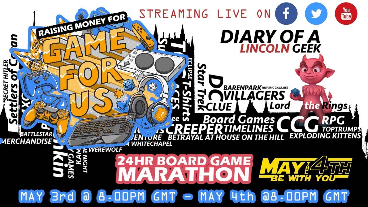 May 4th 2021 DOALG Board Games 24hr Marathon, on 4 May 2021