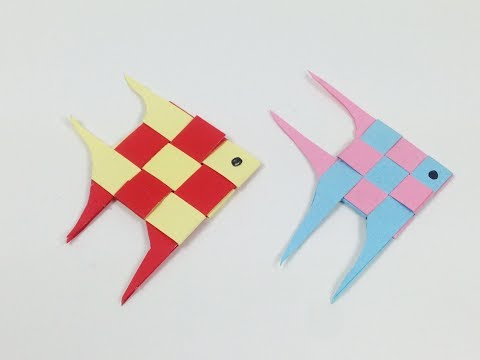 How To Make A Cute Paper Fish Not Origami Step By Step Tutorial | Fish 🐠 - Paper Folding Craft DIY