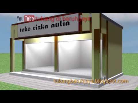 Desain Toko Minimalis Sederhana Baru 6 X 6 Meter Youtube