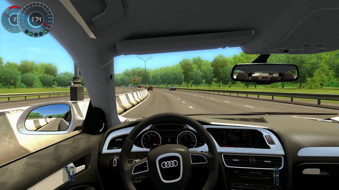 City Car Driving Audi A Speeding YouTube - Audi car and driver