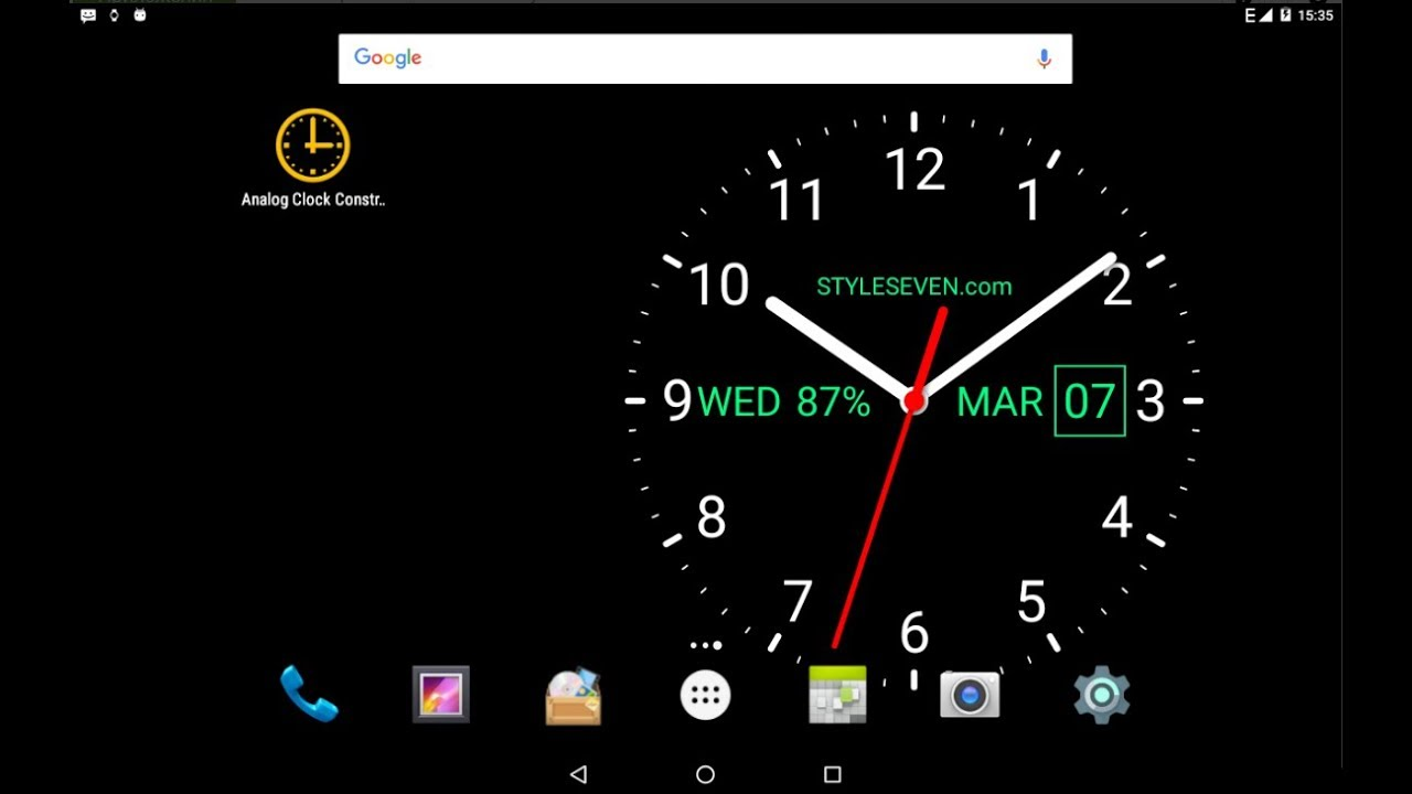 Analog Clock Live Wallpaper-7 - by Style-7 - Tools Category