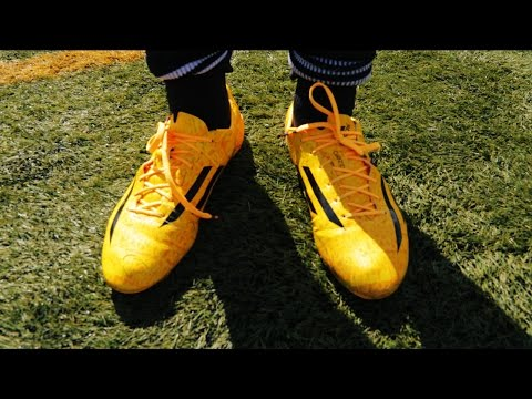New Messi Boots: F50 Adizero Yellow / Gold Test 2014