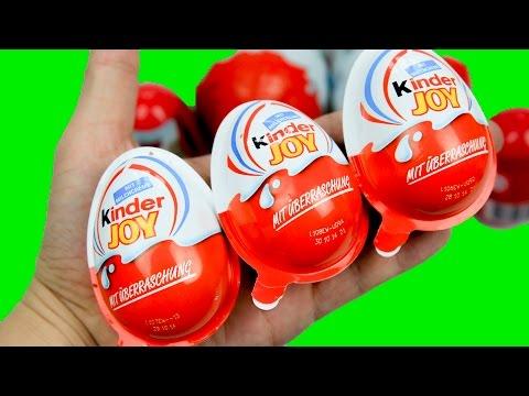 Bóc 16 Trứng Socola Kinder Joy nhiều đồ chơi hấp dẫn