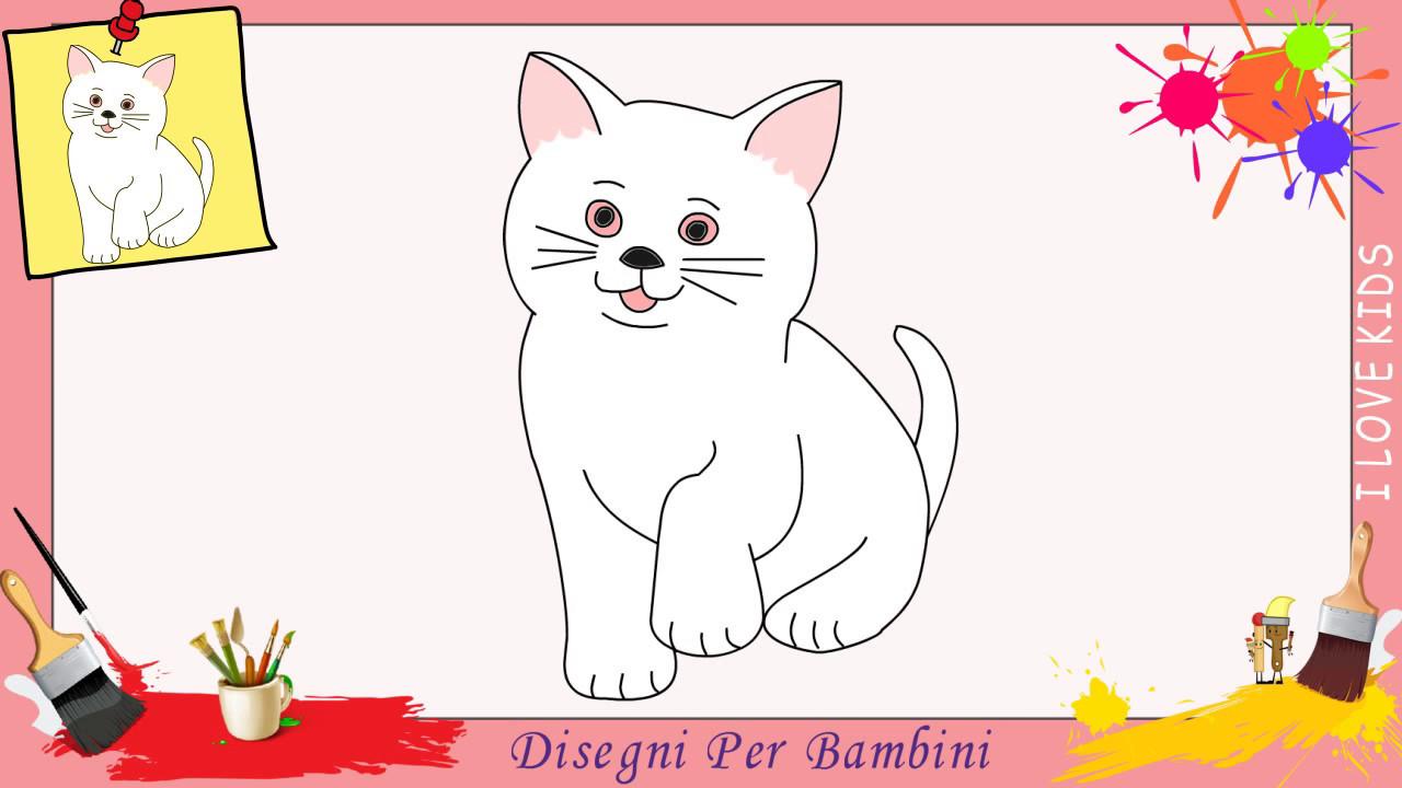 disegni di gatti come disegnare un gatto facile passo