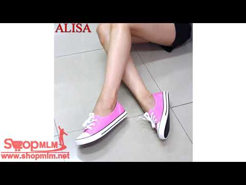 Alisa Shoes รองเท้าผ้าใบผู้หญิงแฟชั่น รุ่น A2120 Pink  161 videó letöltés