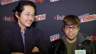 Steven Yeun & Charlie Saxton, Trollhunters - New York Comic Con 2016