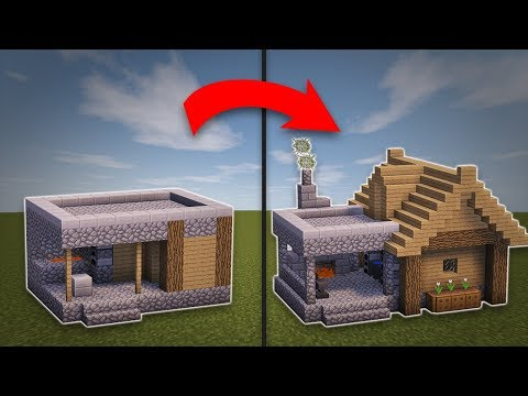 Minecraft how to build a medieval blacksmith tutorial for Easy homes to build
