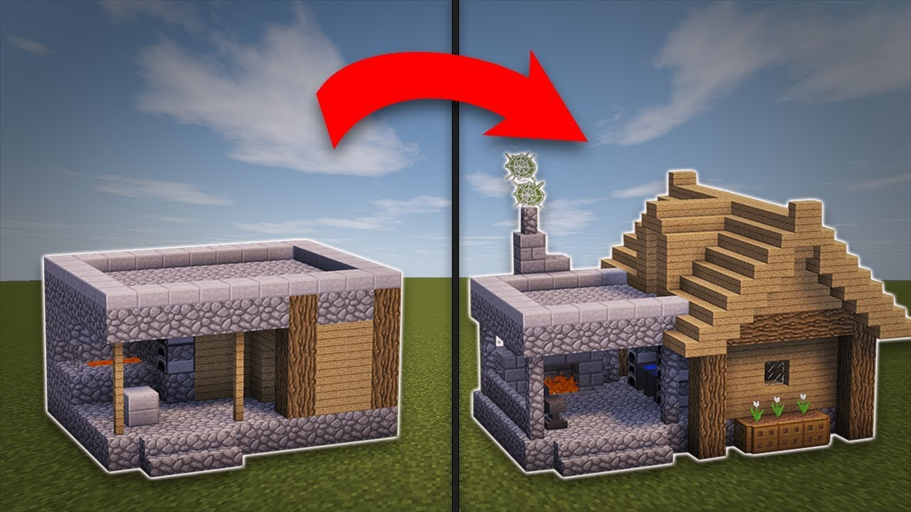 Minecraft How To Remodel A Village Blacksmith Youtube
