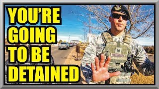 ' DON'T PUT YOUR HANDS ON ME ' BUCKLEY AIR FORCE BASE  First Amendment Audit  Amagansett Press