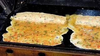 이수역 남성시장 / 왕 계란말이 / Big Rolled Omelette / Big卵焼き/ Korean Street Food